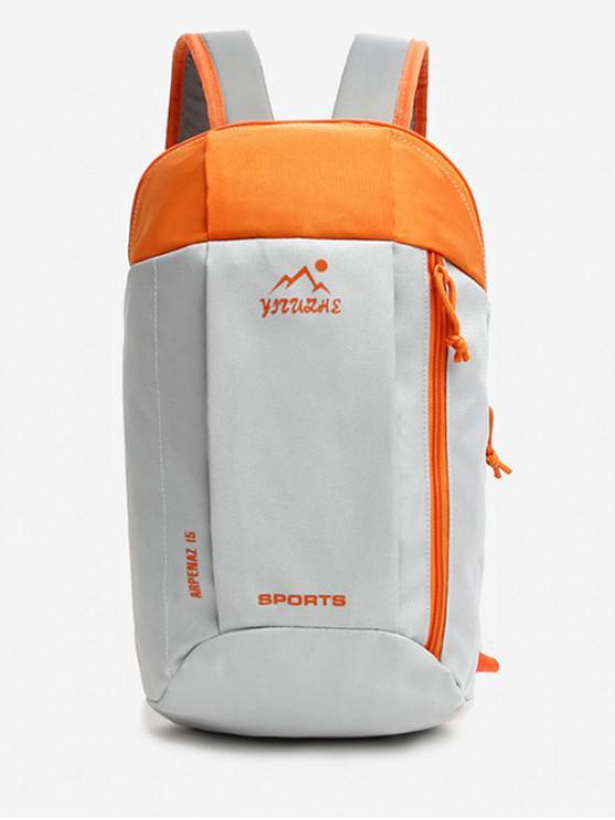 outfits Canvas Zipper Travel Sport Bag - DARK ORANGE