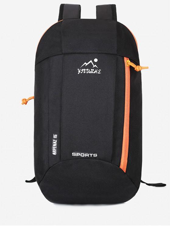 shops Canvas Zipper Travel Sport Bag - BLACK