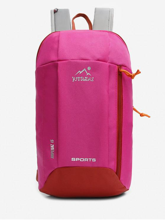 latest Canvas Zipper Travel Sport Bag - ROSE RED