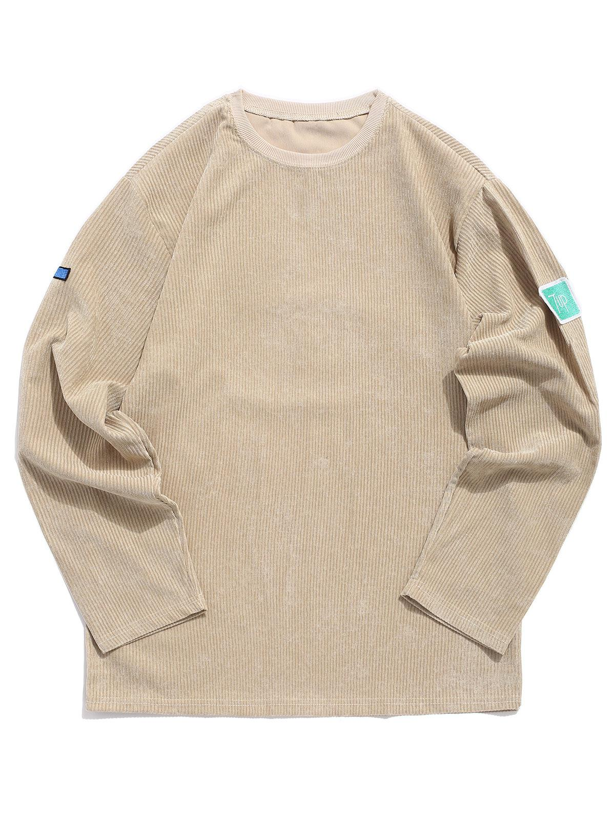 Embroidery Applique Pullover Casual Sweatshirt