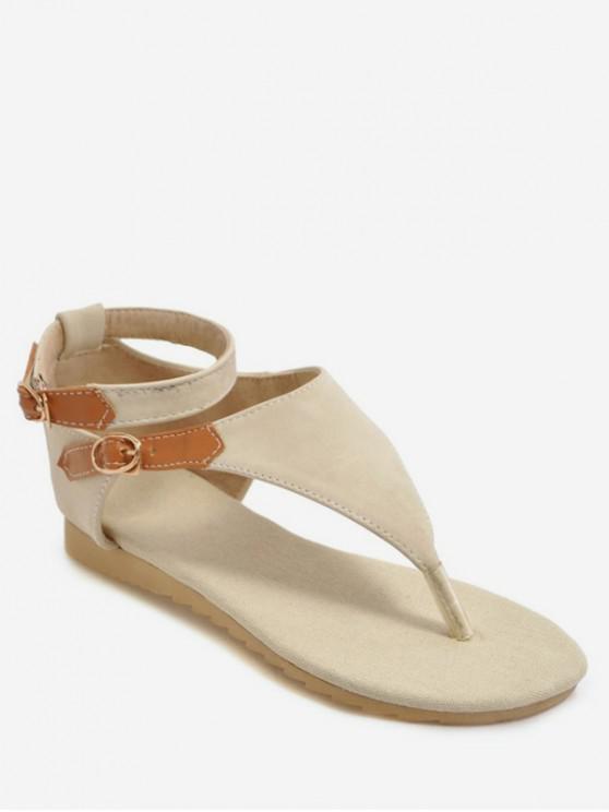 fancy Casual Style Flat Heel Sandals - WARM WHITE EU 42