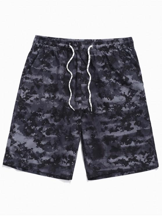 chic Camouflage Print Casual Beach Shorts - NIGHT XL