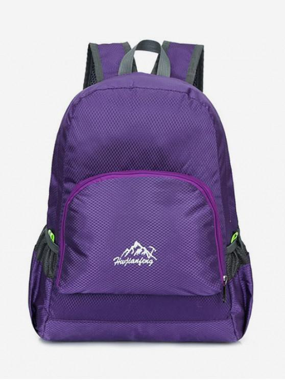 fashion Neon Outdoor Light Backpack - PURPLE AMETHYST