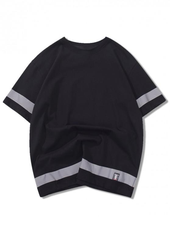 T-shirt da pannello maniche corte - Nero XL