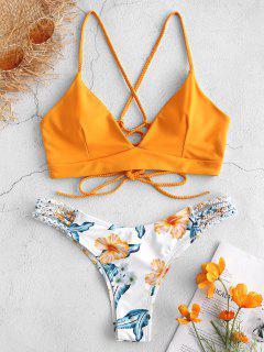 53745a1fe Bikini Trenzado De Flores Con Cordones Conful - Amarillo Brillante S MÁS  VENDIDOS