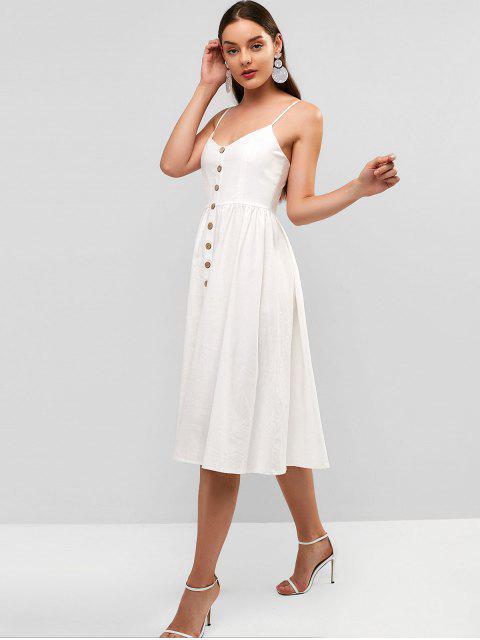 ZAFUL Robe Mi-Longue à Bretelle Tressée - Blanc Lait S Mobile