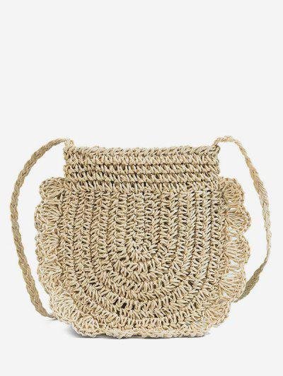 Beach Straw Woven Crossbody Bag - Beige ...