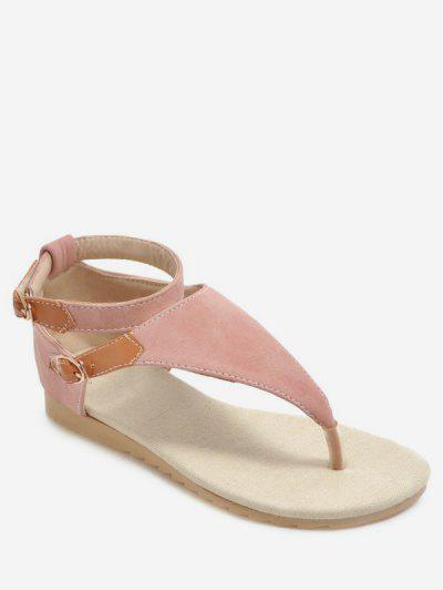 0e447b1c25c54 Casual Style Flat Heel Sandals - Light Pink Eu 40 ...