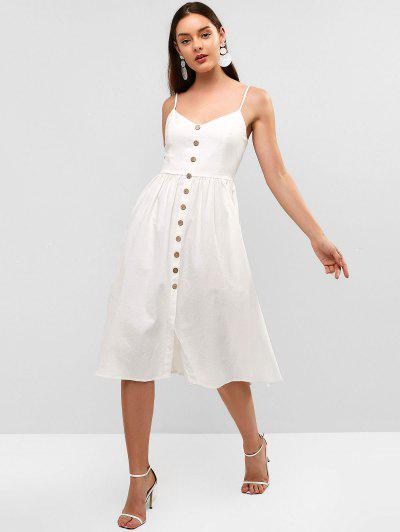 54a29f5882d ... ZAFUL Cami Woven Midi Dress - Milk White S