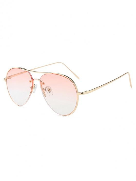unique Outdoor Metal Pilot Sunglasses - PIG PINK