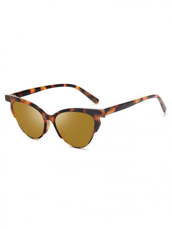 ladies Animal Print Unisex Stylish Punk Style Sunglasses - CHAMPAGNE GOLD