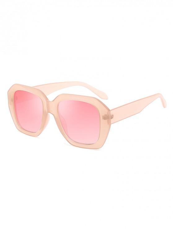 online Retro Style Unisex Irregular Shape Sunglasses - PIG PINK