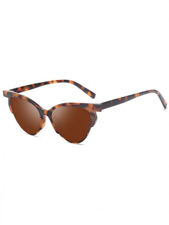 Tierdruck- Unisex- Stilvolle Punk -Stil- Sonnenbrille - Braun