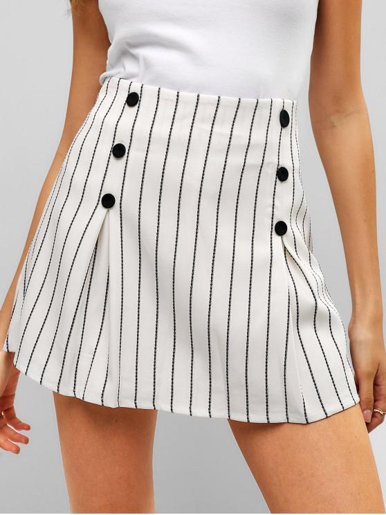 sale Striped Mini Skirt With Inner Shorts - MULTI M