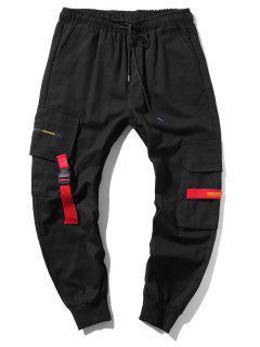 Pantalon De Jogging Cargo Long Applique - Noir Xl