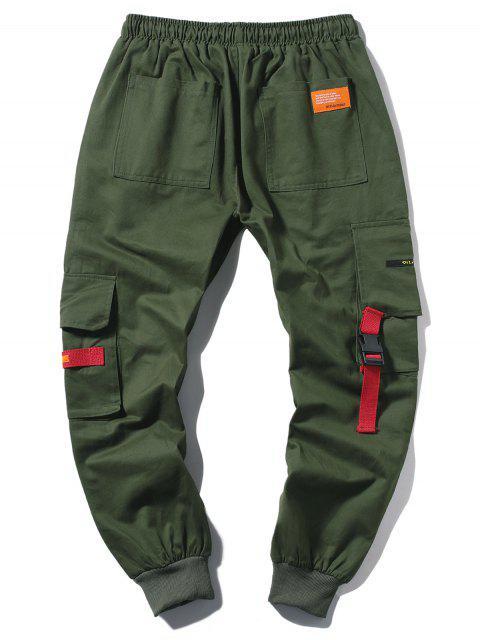 Jogger Pantalones de Cargo Largo con Cordón - Ejercito Verde XS Mobile