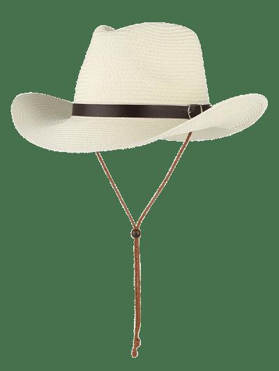 ec089989451fe ... Straw Foldable Sun Floppy Hat - White