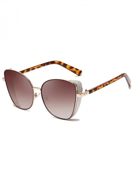 sale Stylish Gradient Shiny Decorated Sunglasses - LEOPARD