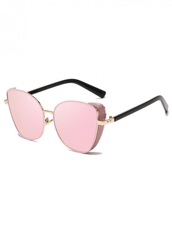 buy Stylish Gradient Shiny Decorated Sunglasses - PIG PINK