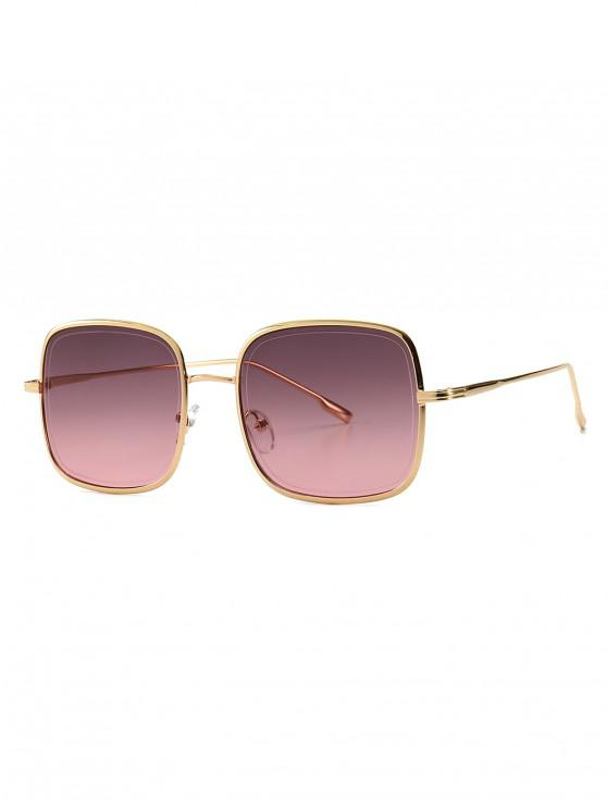 womens Metal Frame Square Sunglasses - DULL PURPLE