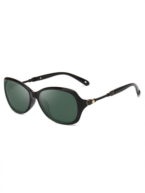 ladies Oversize Polarized Classic Style Sunglasses - BLACK