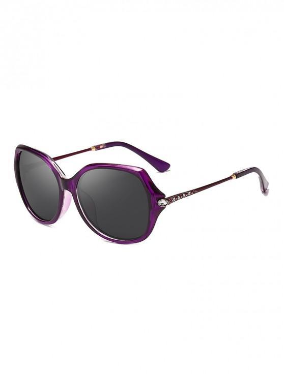 new Oversize Rhinestone Decorated Polarized Sunglasses - VIOLA PURPLE