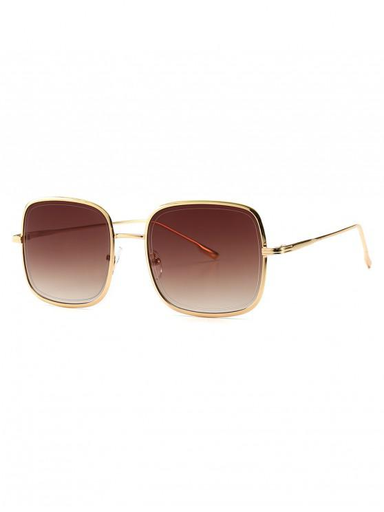 outfit Metal Frame Square Sunglasses - LIGHT BROWN