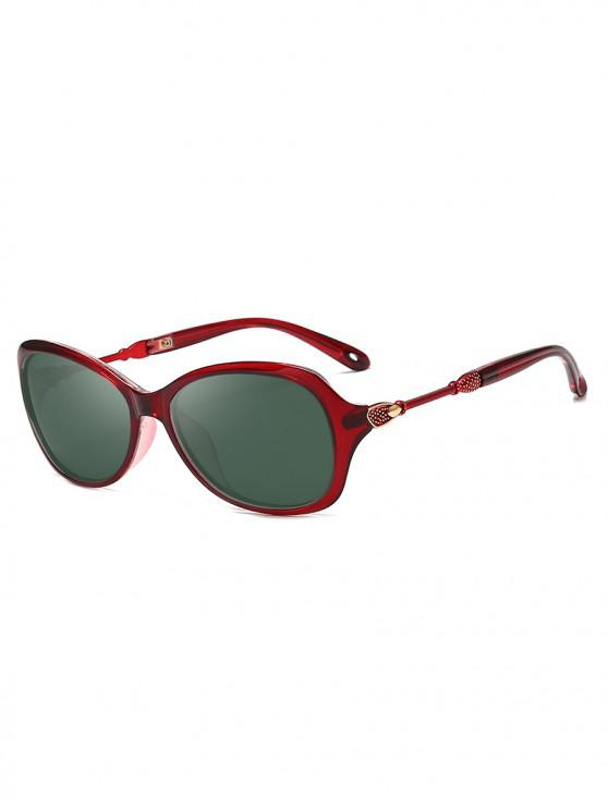 outfits Oversize Polarized Classic Style Sunglasses - RED WINE
