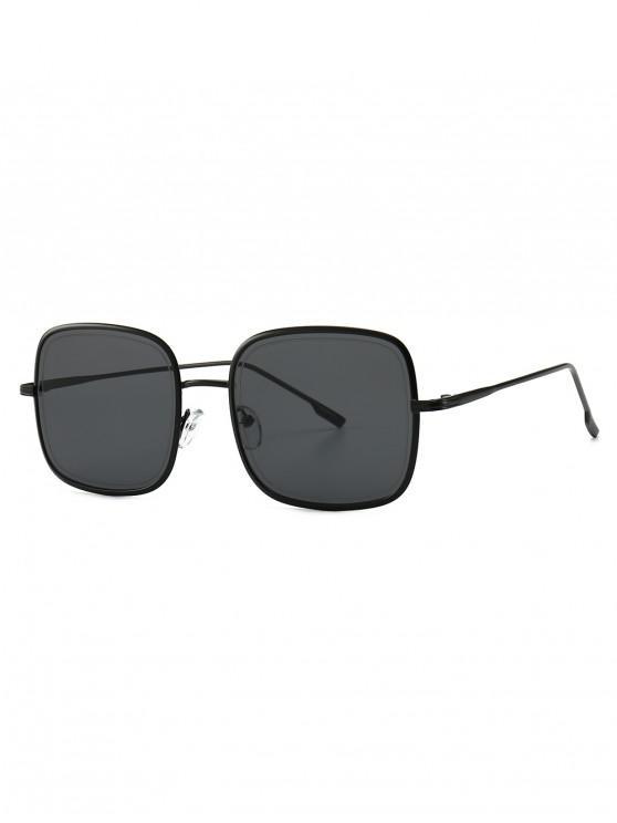 shops Metal Frame Square Sunglasses - BLACK
