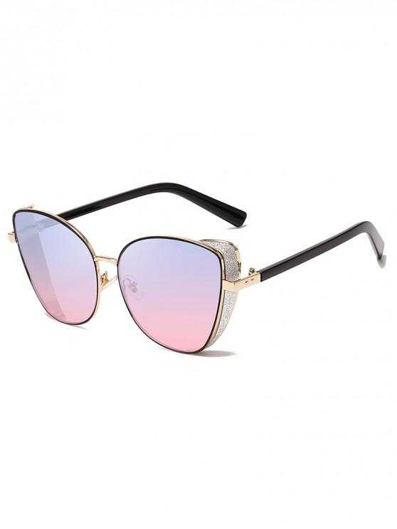 trendy Stylish Gradient Shiny Decorated Sunglasses - POWDER BLUE