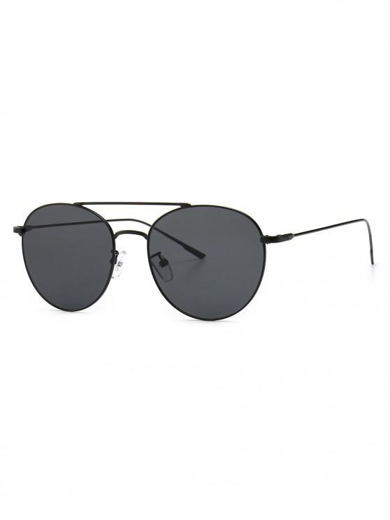 buy Gradient Pilot Metal Frame Sunglasses - BLACK