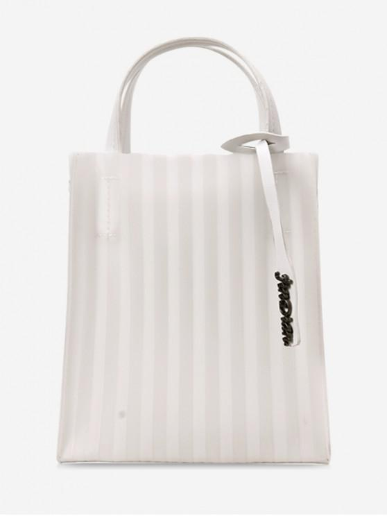 fashion Open Pleated Sling Bag - WHITE