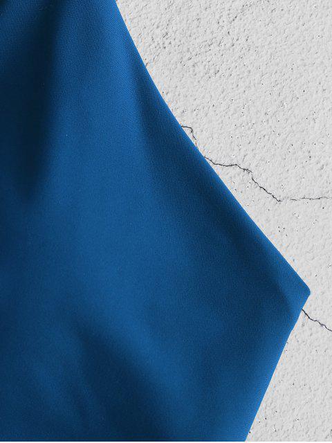 ZAFUL С бантом Бикини в сборе - Черника-синий S Mobile