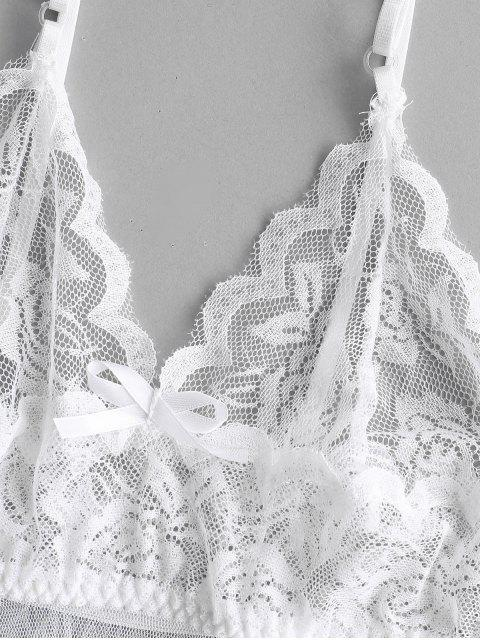 lady Lace Panel Handkerchief Babydoll - WHITE ONE SIZE Mobile