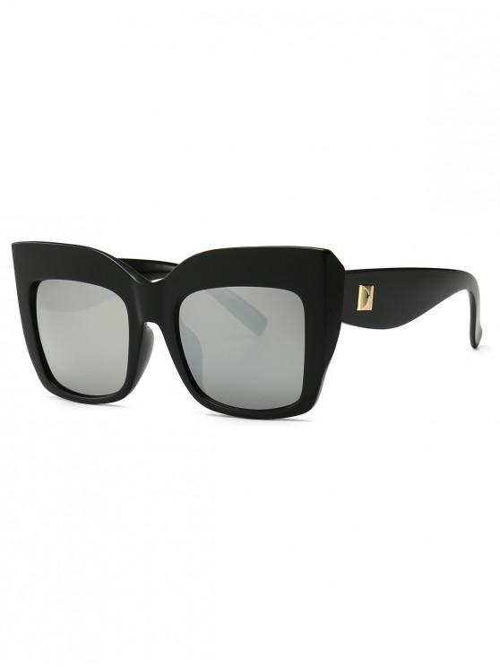 new Square Catty Eye Oversized Sunglasses - SILVER