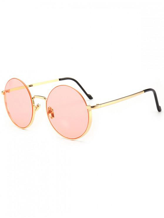 outfit Metal Frame Round Sunglasses - PIG PINK
