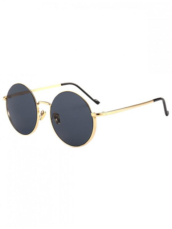 shop Metal Frame Round Sunglasses - BLACK