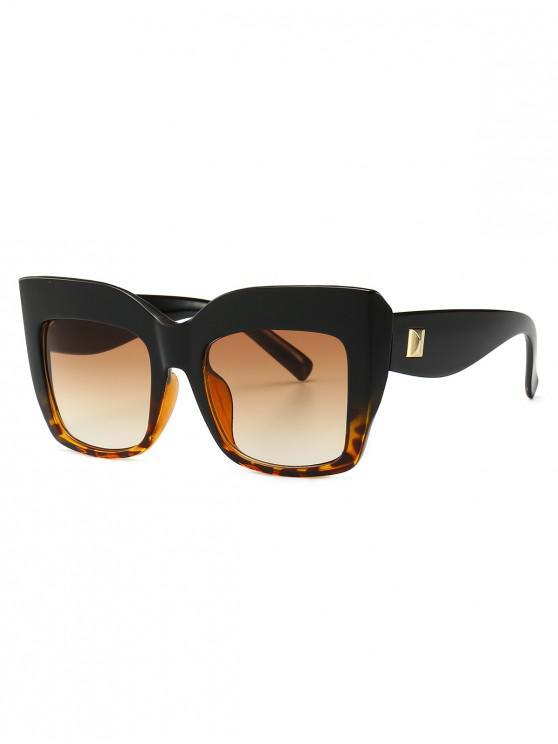 shops Square Catty Eye Oversized Sunglasses - LEOPARD