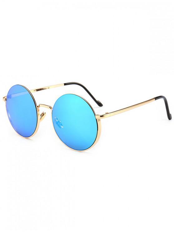 latest Metal Frame Round Sunglasses - LIGHT SLATE BLUE