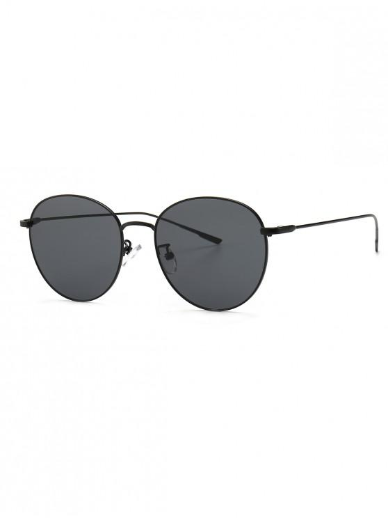 buy Round Metal Frame Sunglasses - BLACK