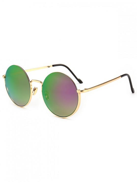 lady Metal Frame Round Sunglasses - DULL PURPLE