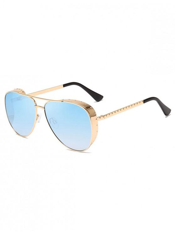 12b8f2212a59b 12% OFF  2019 Stylish Pilot Metal Frame Oversize Sunglasses In DAY ...