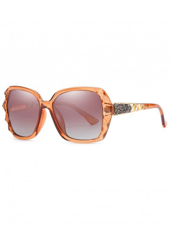 online Polarized Oversize Decorative Sunglasses - BROWN