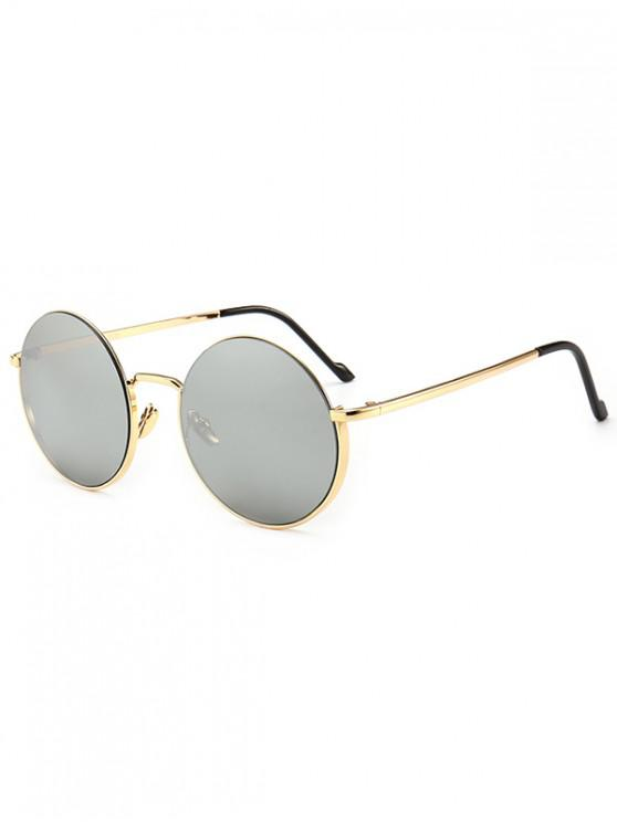 new Metal Frame Round Sunglasses - SILVER