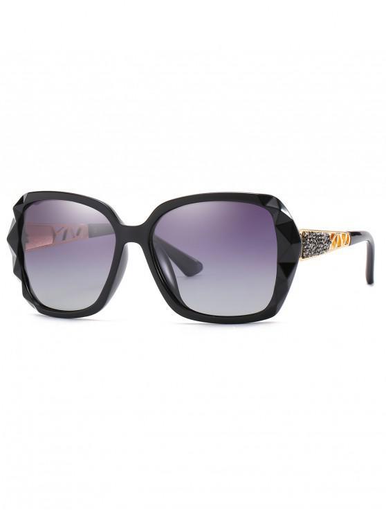 outfit Polarized Oversize Decorative Sunglasses - BLACK