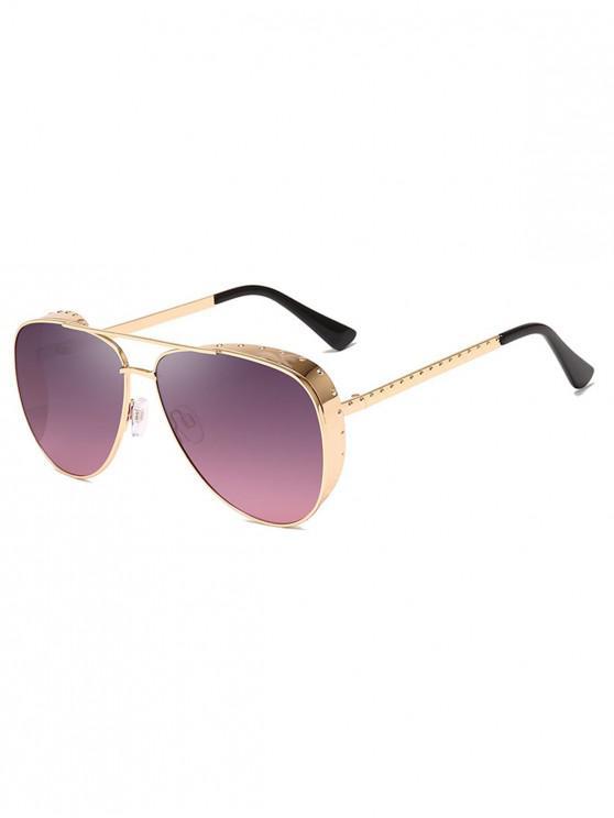 latest Stylish Pilot Metal Frame Oversize Sunglasses - BLUSH PINK