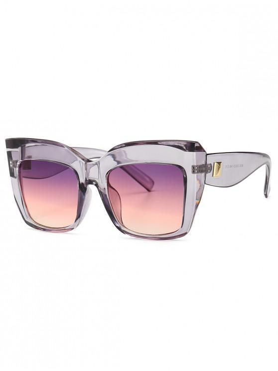 fashion Square Catty Eye Oversized Sunglasses - PURPLE