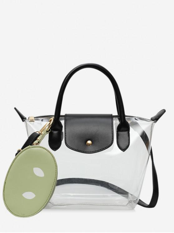 outfit Pig Nose Transparent Summer Shoulder Bag - FERN GREEN