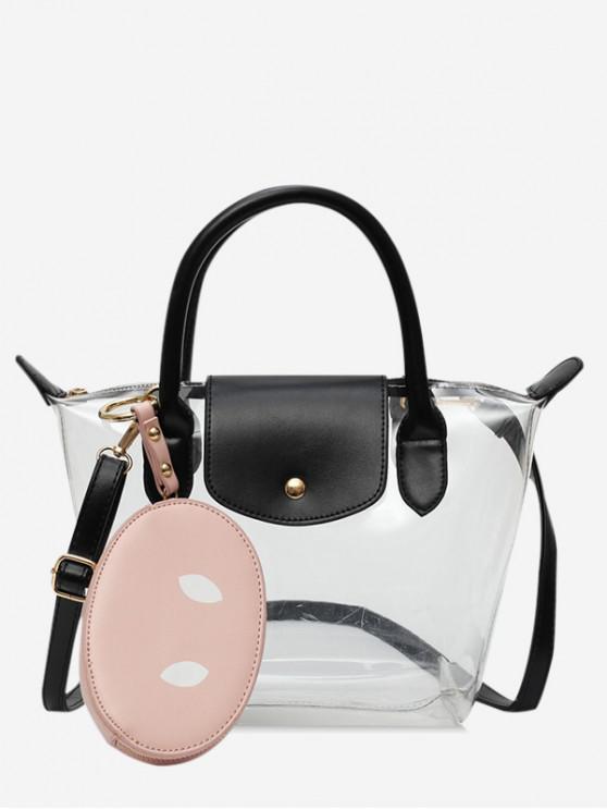 latest Pig Nose Transparent Summer Shoulder Bag - PINK