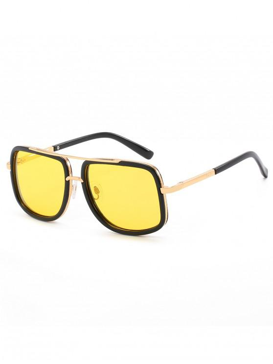 women Anti UV Square Polarized Sunglasses - YELLOW